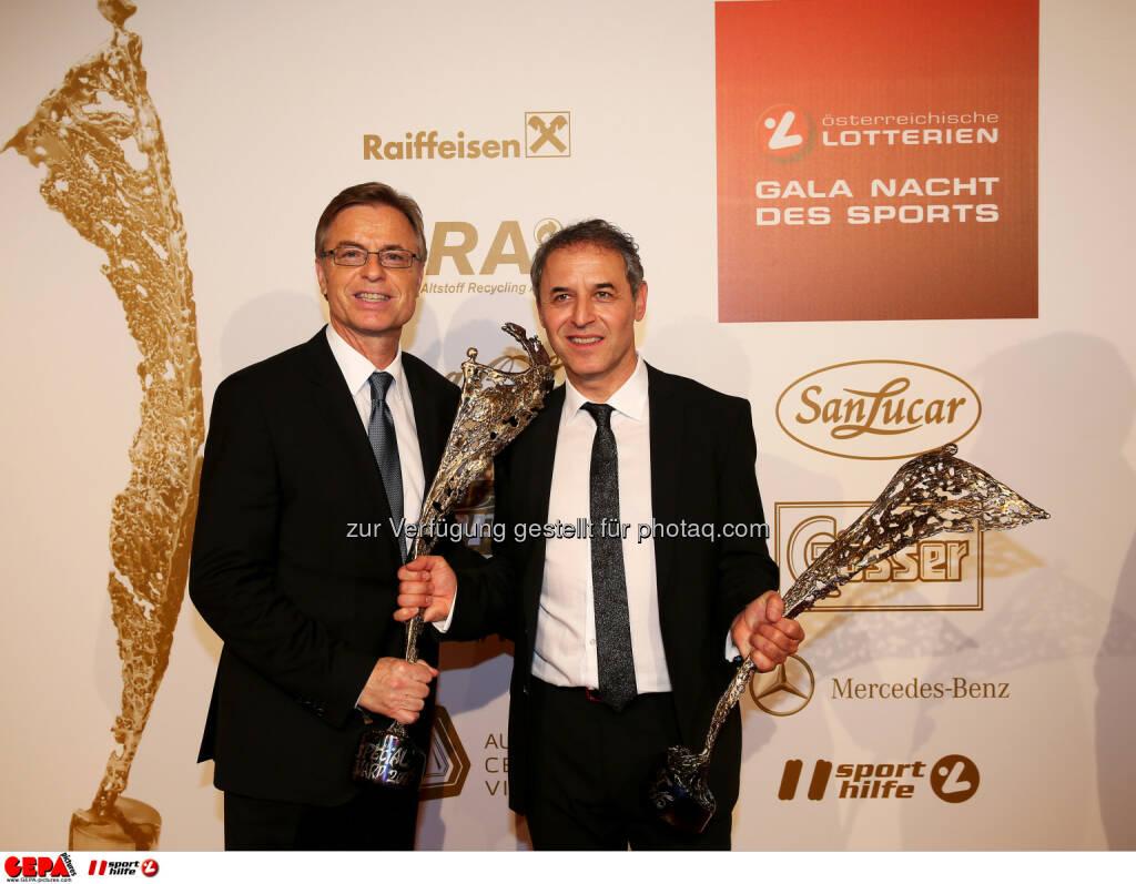 Leodegar Pruschak, Marcel Koller : Photo: GEPA pictures/ Hans Oberlaender (30.10.2015)