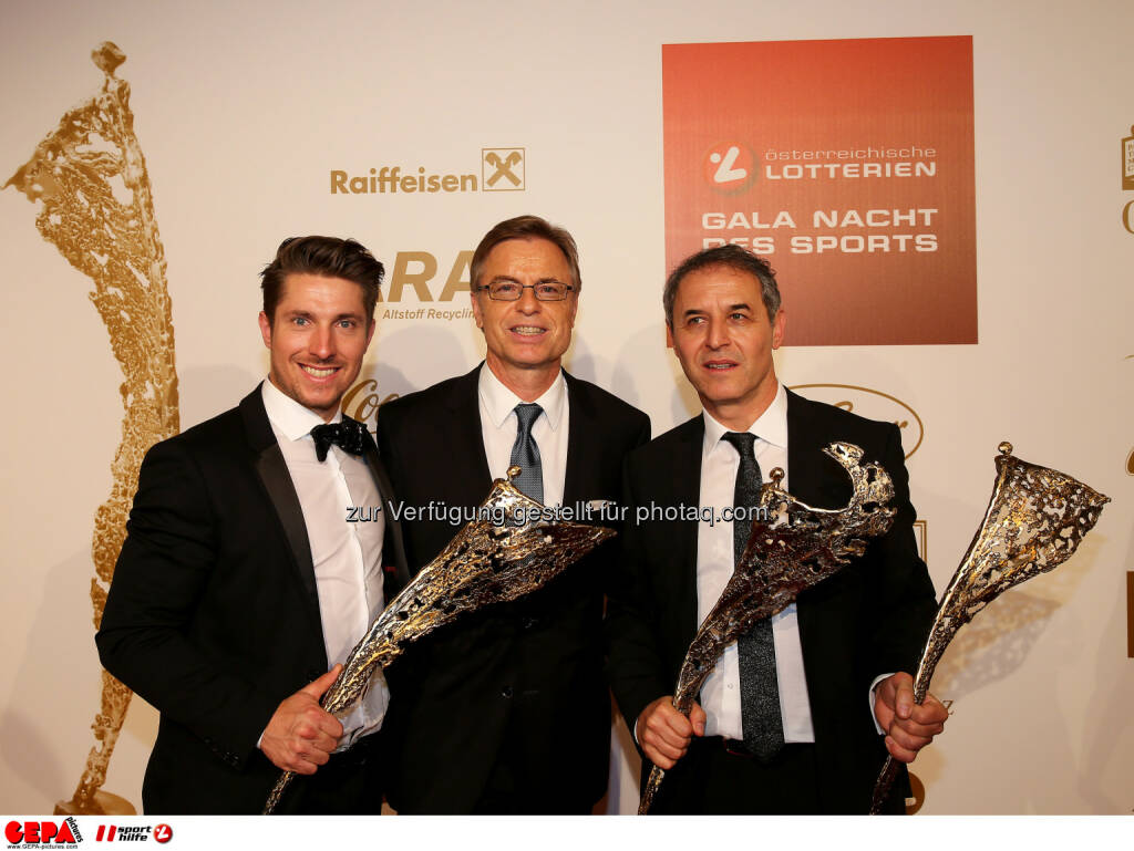 Marcel Hirscher, Leodegar Pruschak, Marcel Koller (AUT) : Photo: GEPA pictures/ Hans Oberlaender (30.10.2015)