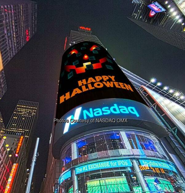 Happy Halloween!  Source: http://facebook.com/NASDAQ (01.11.2015)