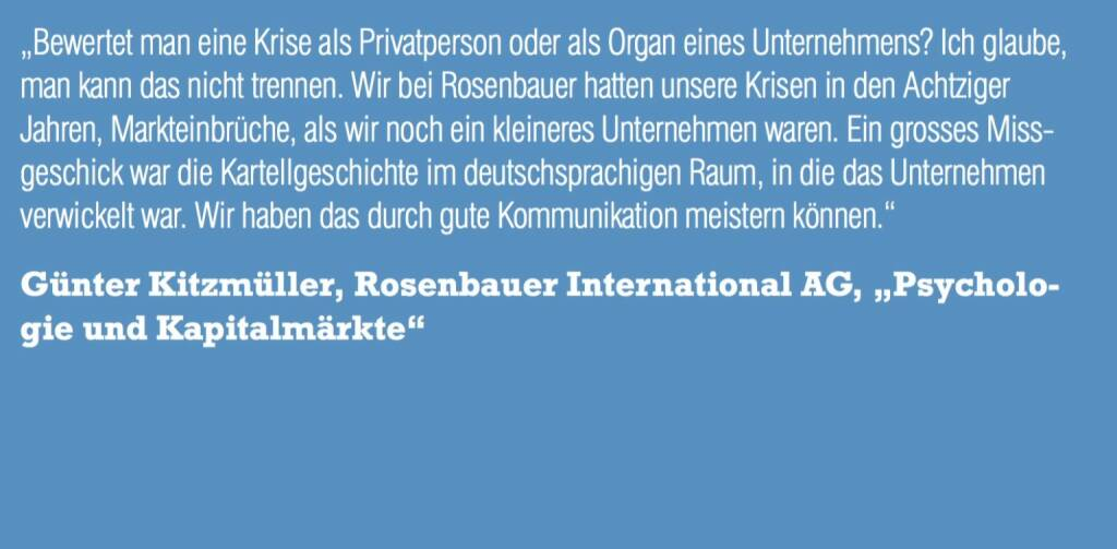 """Günter Kitzmüller, Rosenbauer International AG, """"Psychologie und Kapitalmärkte"""" (06.11.2015)"""