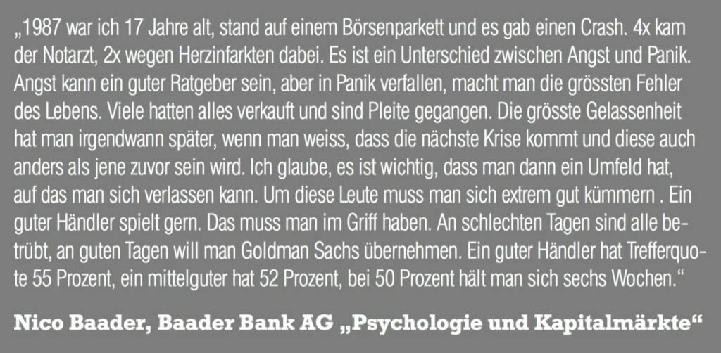 "Nico Baader, Baader Bank AG ""Psychologie und Kapitalmärkte"" (06.11.2015)"