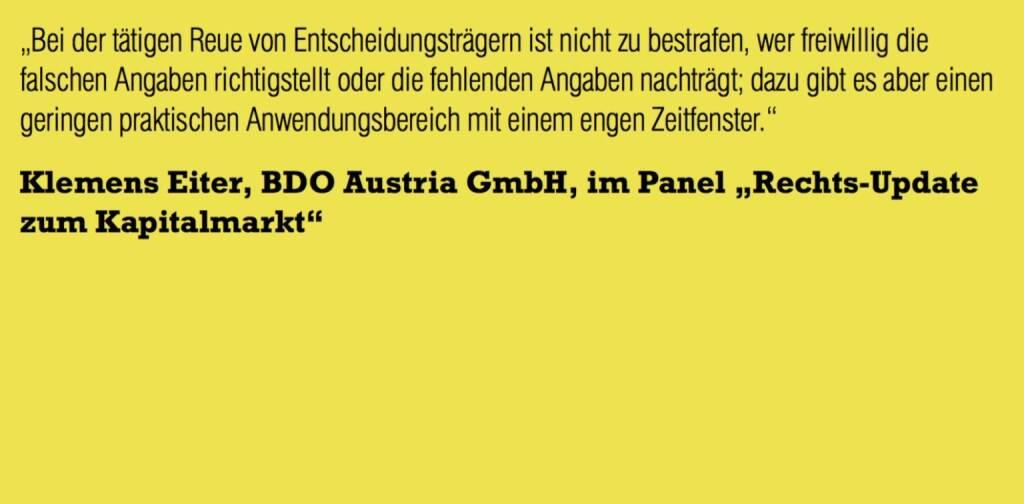 """Klemens Eiter, BDO Austria GmbH, im Panel """"Rechts-Update zum Kapitalmarkt"""" (06.11.2015)"""