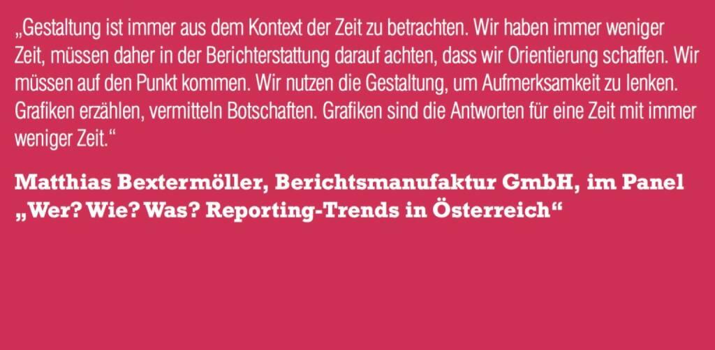 """Matthias Bextermöller, Berichtsmanufaktur GmbH, im Panel """"Wer? Wie? Was? Reporting-Trends in Österreich"""" (06.11.2015)"""