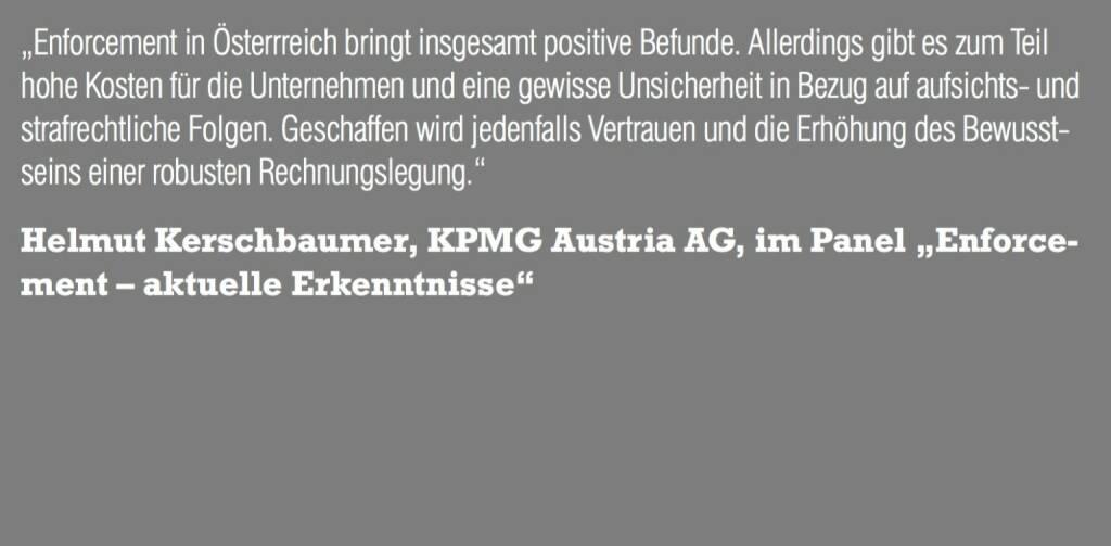 """Helmut Kerschbaumer, KPMG Austria AG, im Panel """"Enforcement – aktuelle Erkenntnisse"""" (06.11.2015)"""