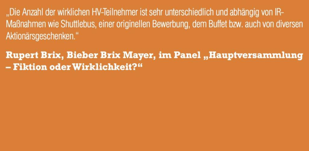 """Rupert Brix, Bieber Brix Mayer, im Panel """"Hauptversammlung – Fiktion oder Wirklichkeit?"""" (06.11.2015)"""
