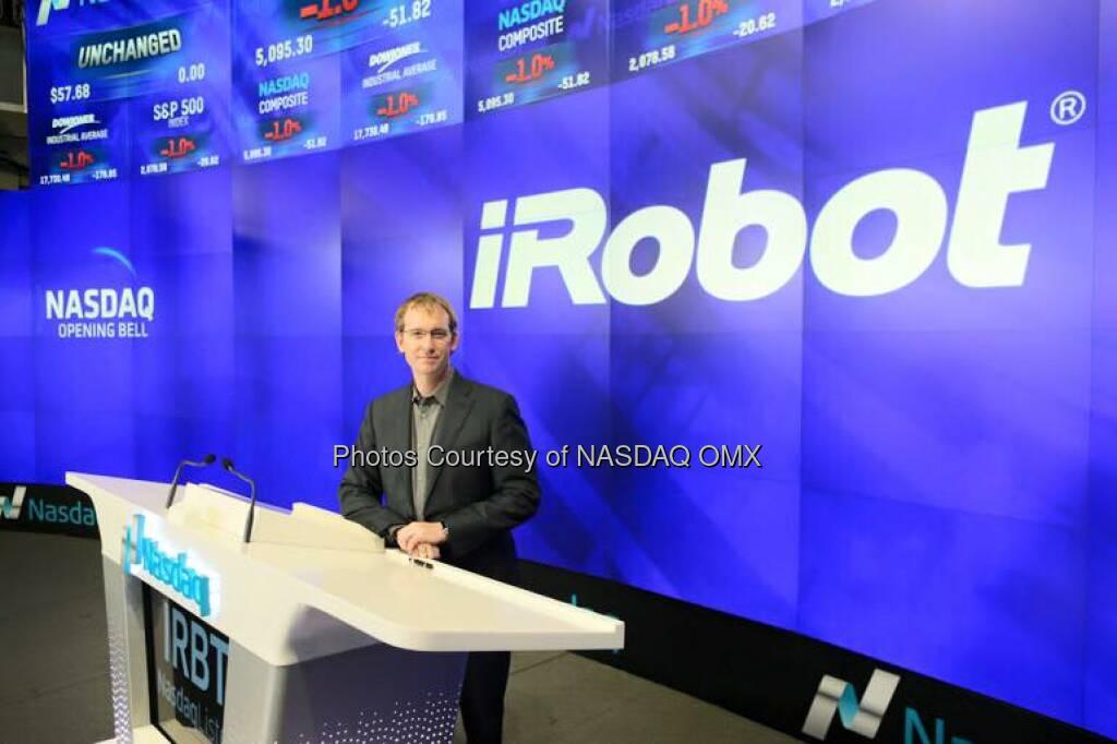 iRobot rang the Nasdaq Opening Bell! $IRBT  Source: http://facebook.com/NASDAQ (10.11.2015)