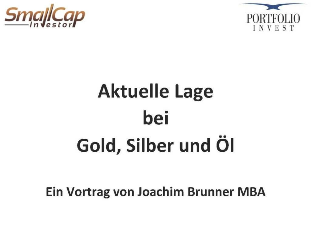 Aktuelle Lage bei Gold, Silber und Öl (12.11.2015)