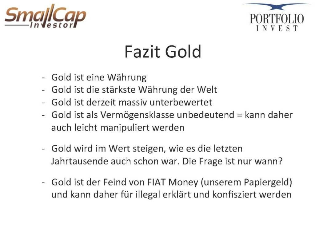 Fazit Gold (12.11.2015)