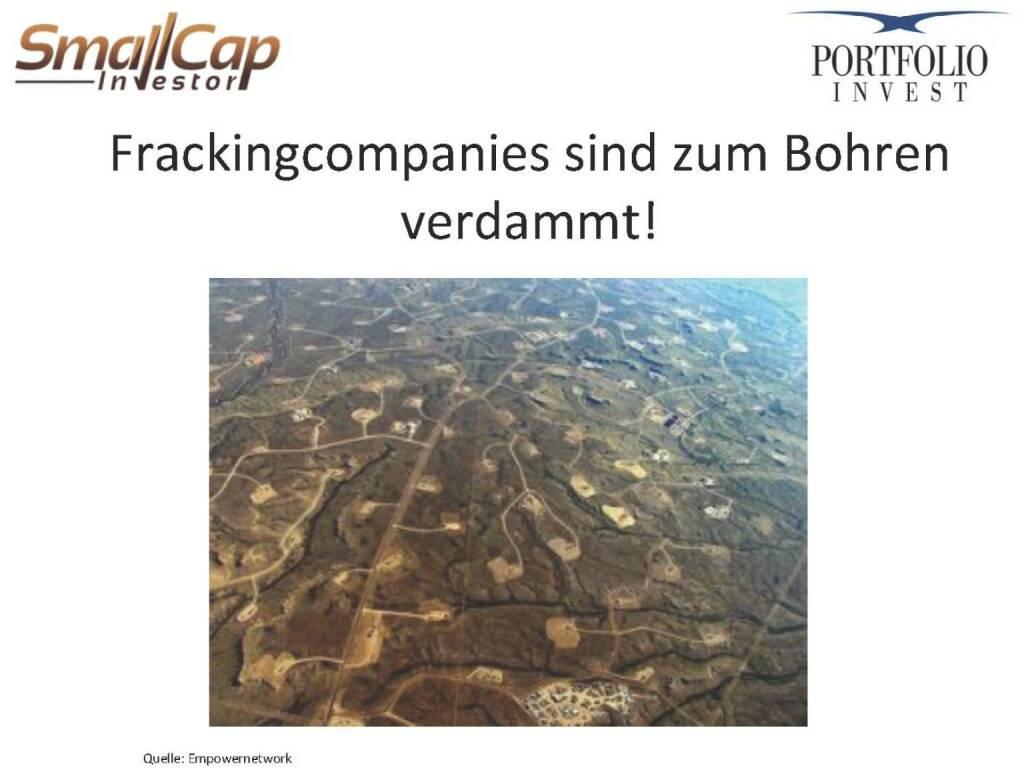 Frackingcompanies sind zum Bohren verdammt! (12.11.2015)