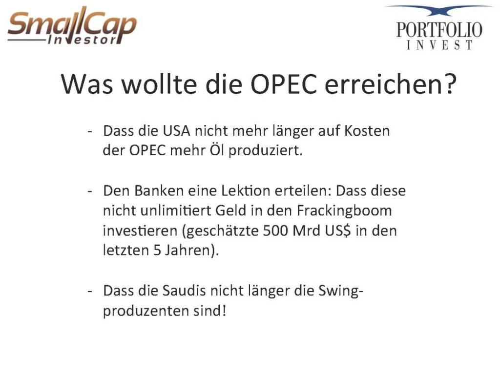 Was wollte die OPEC erreichen? (12.11.2015)
