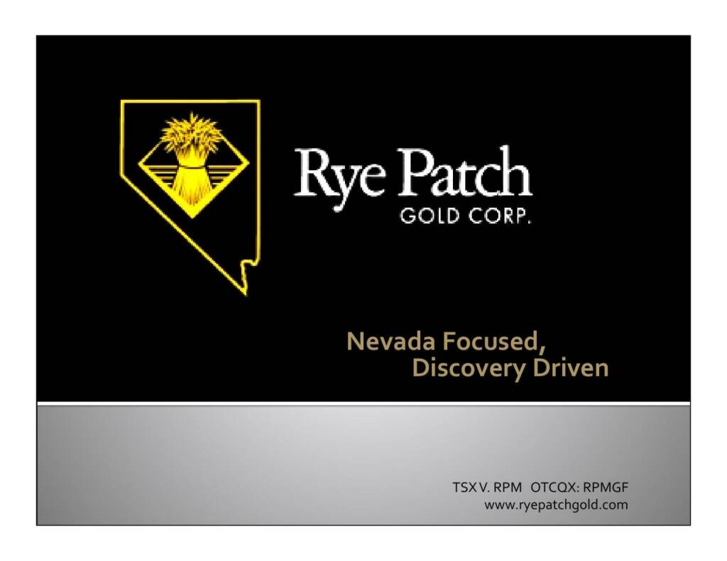Nevada Focused, Discovery Driven (12.11.2015)