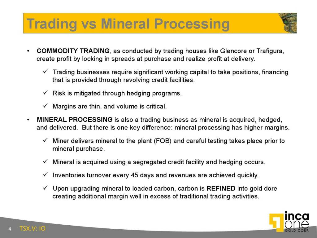 Trading vs Mineral Processing (12.11.2015)