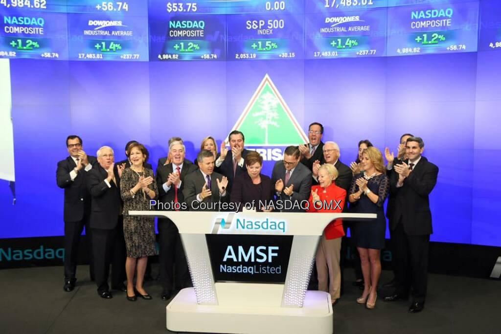 Amerisafe, Inc. rang the Nasdaq Opening Bell! $AMSF  Source: http://facebook.com/NASDAQ (17.11.2015)