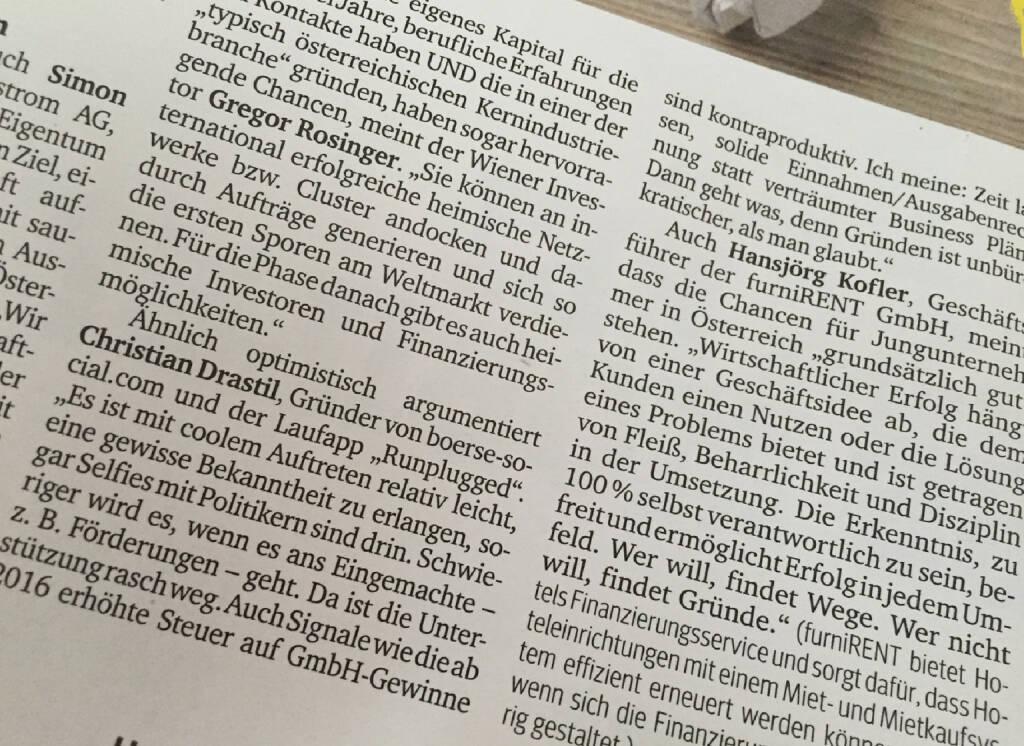 Im Kurier vom 19.11. mit boerse-social.com und runplugged.com (19.11.2015)