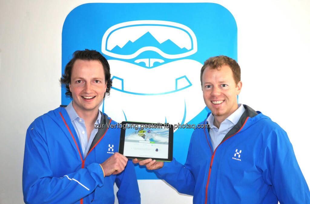 Stefan Pinggera und Georg Reich, CheckYeti.com: Österreichisches Start-up CheckYeti startet mit neuer Buchungsplattform für Wintersportaktivitäten durch. (C) CheckYeti, © Aussender (19.11.2015)