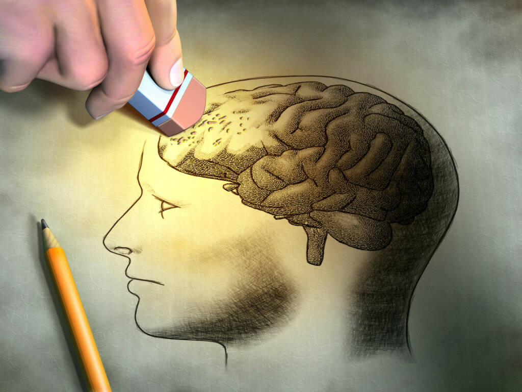 Gedächtnis, Hirn, radieren, löschen http://www.shutterstock.com/de/pic-101520898/stock-photo-someone-is-erasing-a-drawing-of-the-human-brain-conceptual-image-relating-to-dementia-and-memory.html, © www.shutterstock.com (22.11.2015)