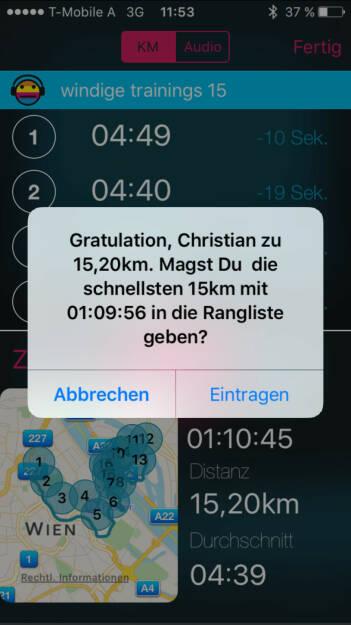 Gute 15k mit http://www.runplugged.com/app (22.11.2015)