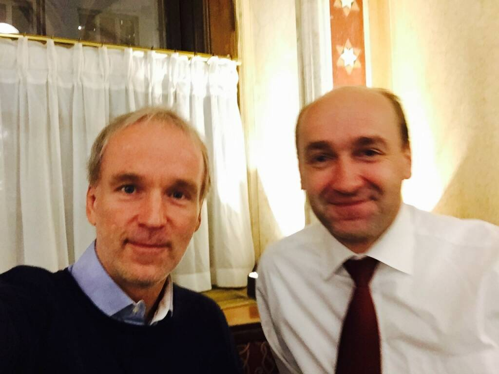 Christian Drastil und Hellobank-Vorstand Ernst Huber am Ende von 100/100 mit neuen Plänen. Info folgt in Kürze ... (24.11.2015)