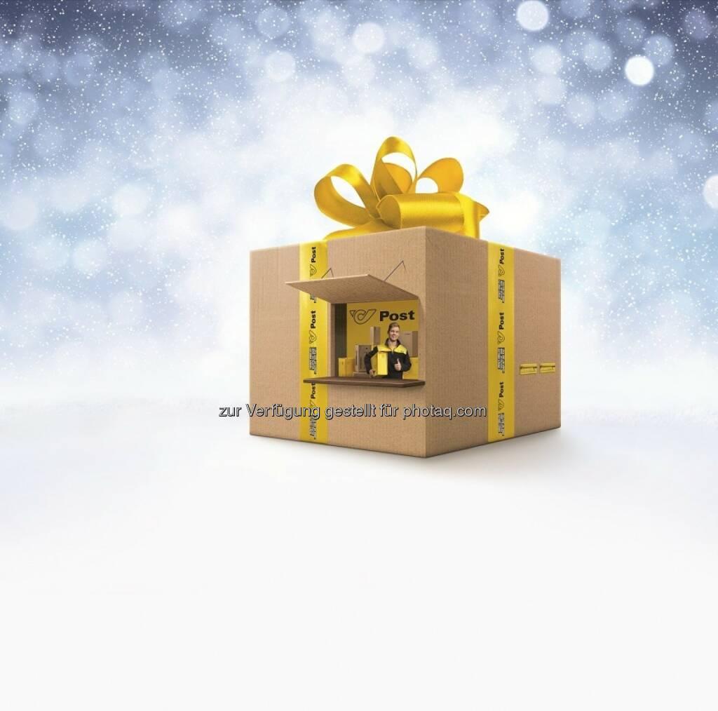 Post Pop-up-Store : Der Post Pop-up-Store, ein überdimensionales Weihnachtspaket, geht auf Tour : Geschenke gratis verpacken und verschicken - Stationen in Innsbruck, Graz und Wien : Fotocredit: Österreichische Post, © Aussender (25.11.2015)