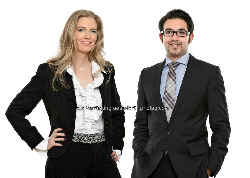 Rita Wittmann (Counsel), Hutan Rahmani (Rechtsanwalt) : Schönherr berät SK Rapid und CONDA bei Crowdinvesting-Projekt Rapid InvesTOR : Fotocredit: Schönherr, © Aussendung (25.11.2015)