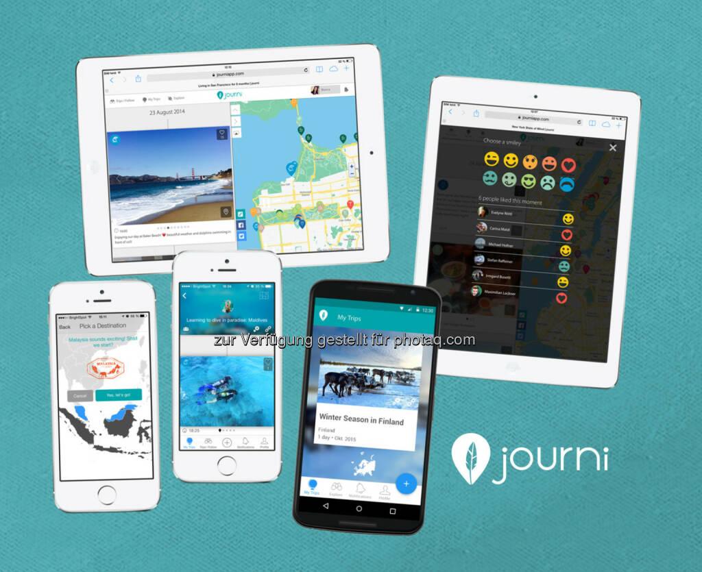 iOS und Android Geräte : Das Startup bringt die Journi App jetzt auch auf Android-Geräte : Fotocredit: Journi GmbH, © Aussender (26.11.2015)