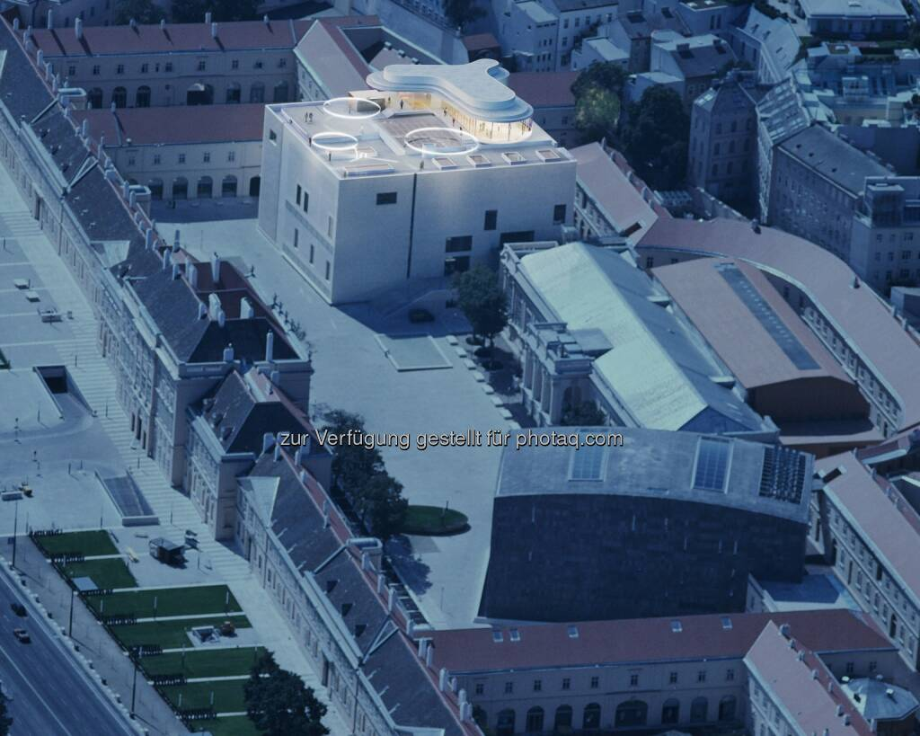 Rendering MQ Libelle MuseumsQuartier Wien : MQ Libelle: Pläne von Aufsichtsrat beschlossen : Wichtige Projektphase für neue Location auf dem Dach des Leopold Museums erfolgreich abgeschlossen : Fotocredit: © schreinerkastler.at, © Aussendung (26.11.2015)