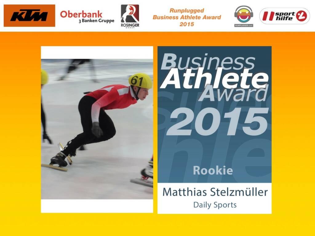 Matthias Stelzmüller, Rookie (01.12.2015)