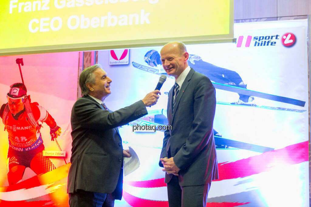 Hans Huber, Franz Gasselsberger (CEO Oberbank), © Martina Draper/photaq (02.12.2015)