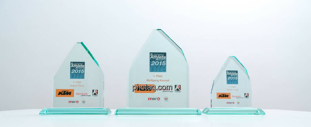 Business Athlete Award 2015 Platz 1, Platz 2 und Platz 3, © Martina Draper/photaq (02.12.2015)