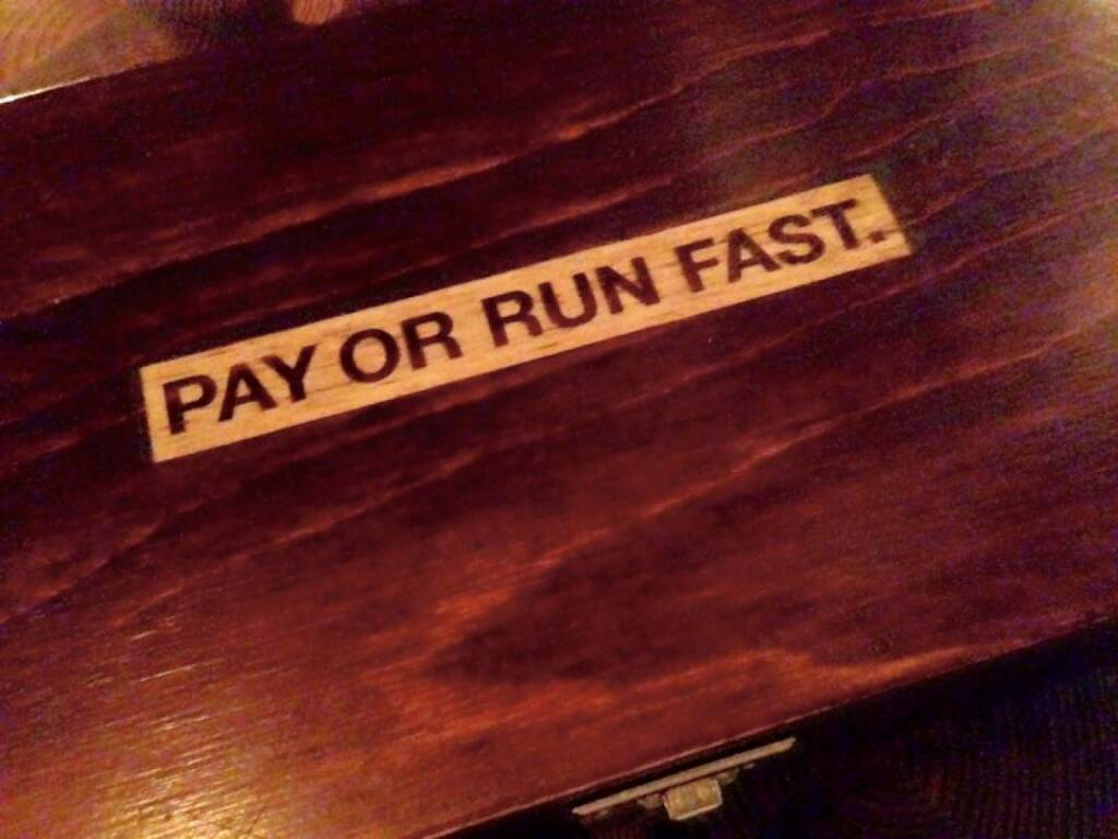 Pay or run fast (06.12.2015)