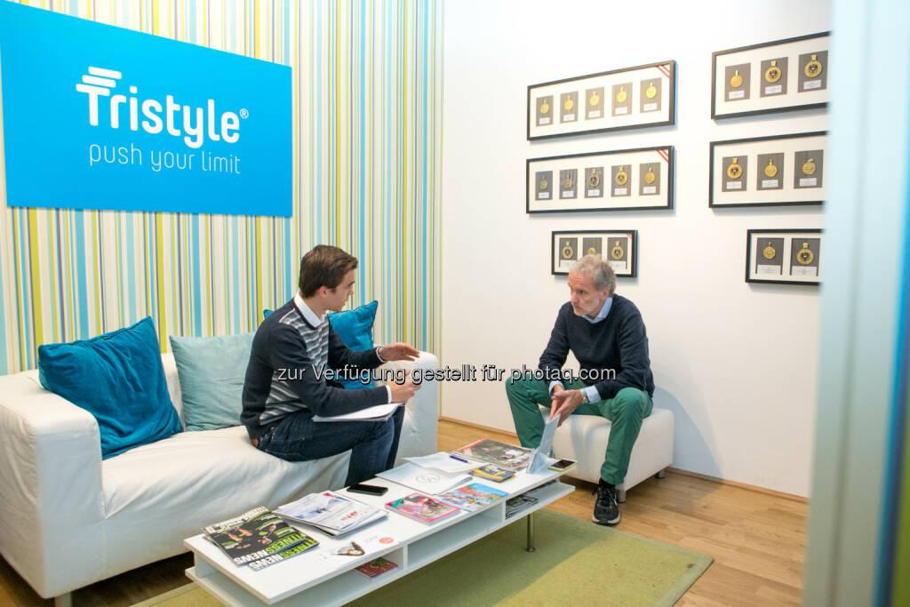 Gerald Pollak interviewt Christian Drastil, © Aussender (14.12.2015)