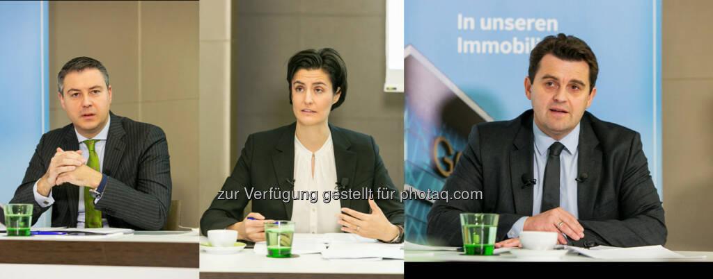 Oliver Schumy (CEO), Birgit Noggler (CFO) und Dietmar Reindl (COO) : IMMOFINANZ präsentiert das Halbjahresergebnis für das Geschäftsjahr 2015/16 :  (Fotocredit: ©IMMOFINANZ, © Aussender (17.12.2015)