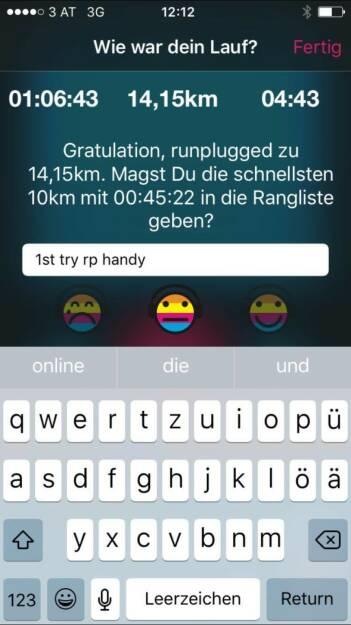 Den Runplugged User aktiviert (25.12.2015)