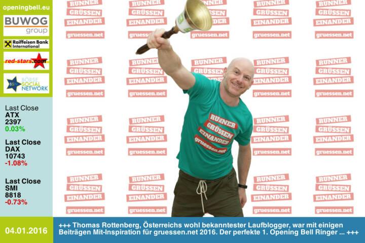 #openingbell am 4.1.: Thomas Rottenberg, Österreichs wohl bekanntester Laufblogger, war mit einigen Beiträgen Mit-Inspiration für http://www.gruessen.net 2016. Der perfekte 1. Opening Bell Ringer ... http://www.christian-drastil.com/blog/thomas.rottenberg http://www.openingbell.eu