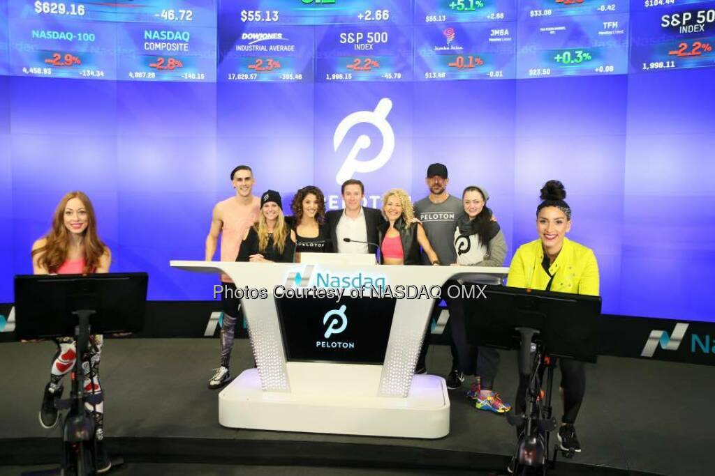 Great photos of Peloton ringing the Nasdaq Closing Bell in celebration of #FitWeek!  Source: http://facebook.com/NASDAQ (05.01.2016)