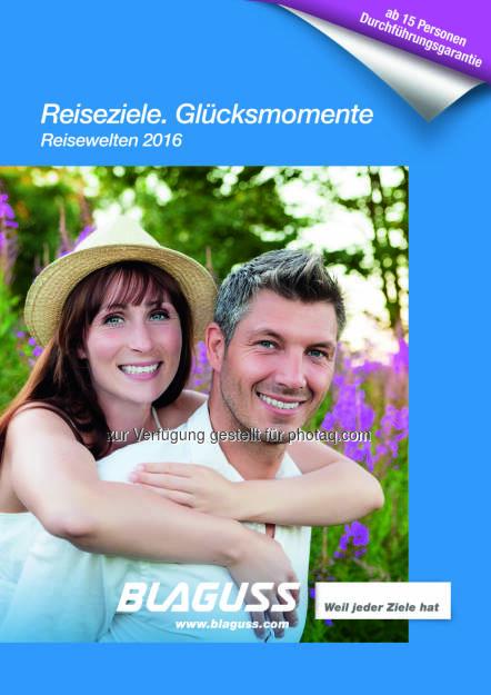 Blaguss-Katalog 2016 : Blaguss Reisewelten 2016 in den Reisebüros eingetroffen : Fotocredit: Blaguss / Fotolia, © Aussender (11.01.2016)