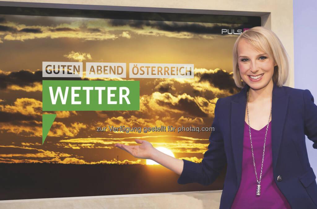 Neue Wetter-Moderatorin bei ProSiebenSat.1 Puls 4: Ursula Wares geht On-Air ... (c) Mikes/Puls4 (03.04.2013)