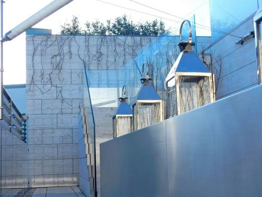 LOEWE-PK im Park Hyatt, Jänner 2016: Das Highlight des 2014 eröffneten Hyatt Hotels ist seine Royal Penthouse Suite im 5. und 6. Stock mit Blick über Wien und einer Reihe von Features, die ihresgleichen suchen: 820 Quadratmeter, verteilt auf zwei Ebenen mit vier Terrassen.  (18.01.2016)