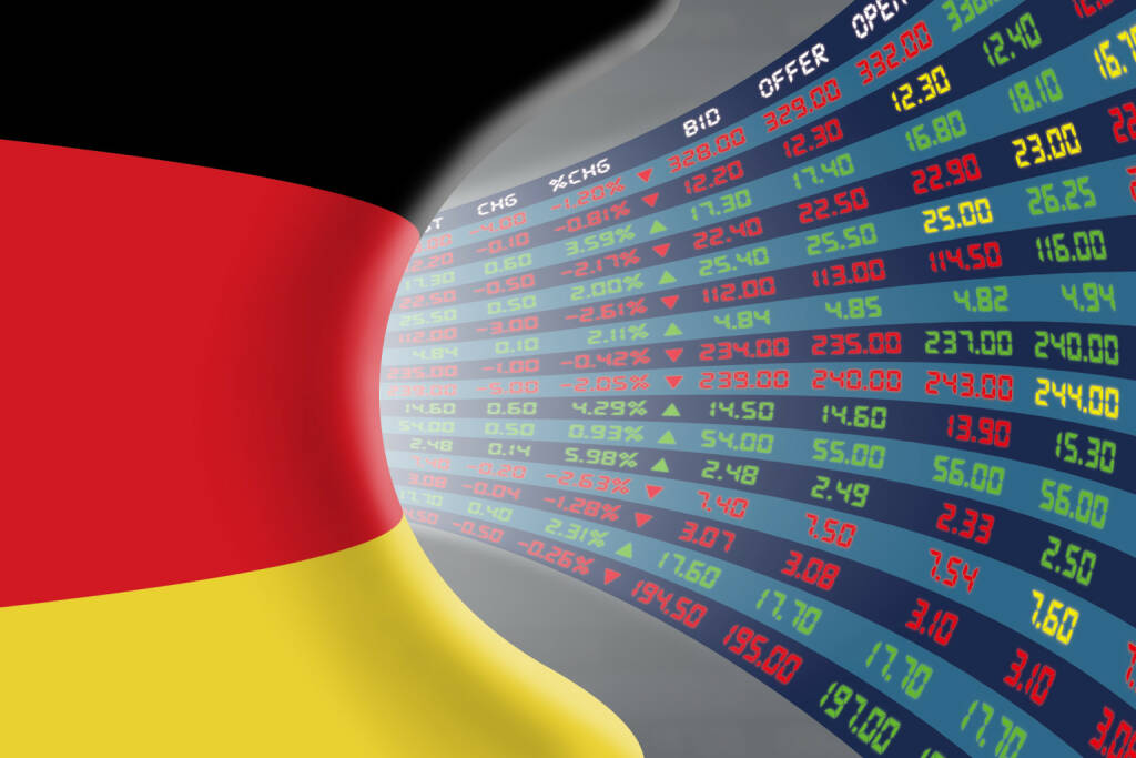 DAX, Kurszettel, rot, grün http://www.shutterstock.com/de/pic-361977842/stock-photo-national-flag-of-germany-with-a-large-display-of-daily-stock-market-price-and-quotations-during.html, © www.shutterstock.com (20.01.2016)
