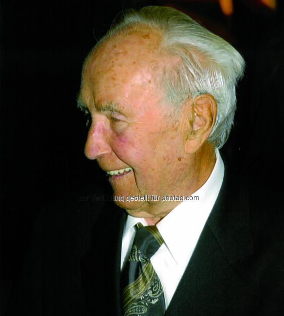 Felix Madl - 1.1.1909 bis 21.1.2016 : Pionier des Tiroler Tourismus und ältester Tiroler sowie viertältester Österreicher im Alter von 107 Jahre gestorben : Fotocredit: Tourismusverband Kitzbüheler Alpen, © Aussender (22.01.2016)