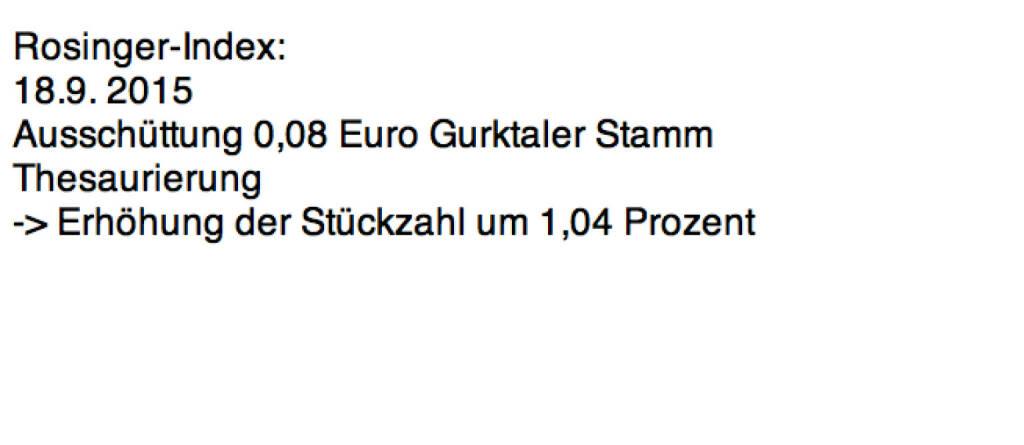 Indexevent Rosinger-Index 3: Gurktaler Stamm laut http://www.wienerborse.at/investors/news/boerse_news/dividendenzahlung-gurktaler-2014-2015.html (23.01.2016)