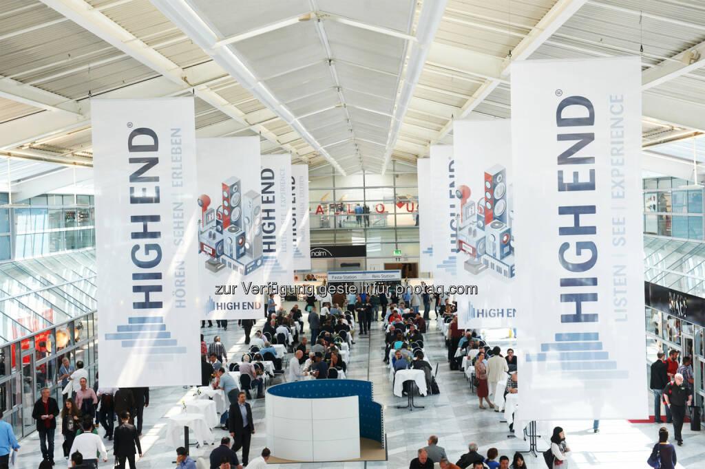 HIGH END 2016 - Atrium / Die HIGH END® als weltweite Leitmesse der Audiobranche findet vom 05.-08. Mai im MOC in München statt : Fotocredit: High End Society Service GmbH (26.01.2016)