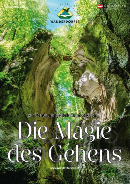 Cover Die Magie des Gehens 2016 : Der Jubiläumskatalog von Österreichs Wanderdörfern : Fotocredit: FotografiePeterKuehnl,peterkuehnl.com, © Aussender (27.01.2016)