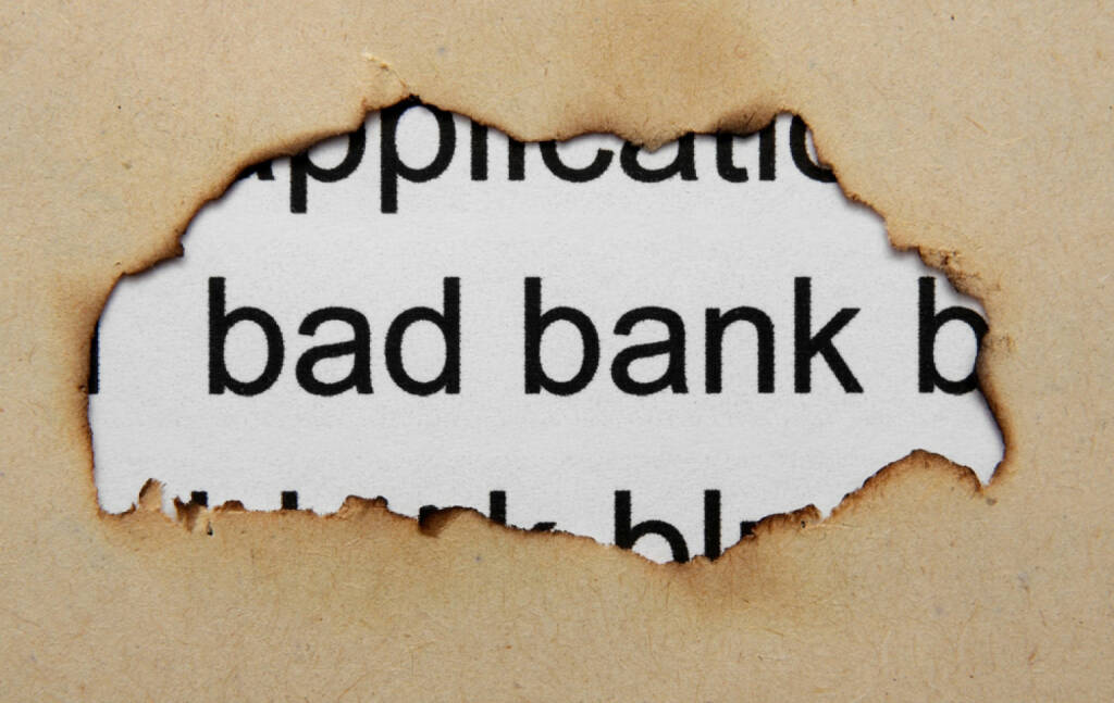 bad bank, http://www.shutterstock.com/de/pic-141197686/stock-photo-bad-banking-concept.html, © www.shutterstock.com (28.01.2016)