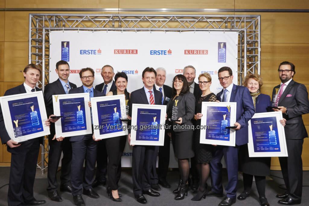 Die IMMY 2015 Gewinner in Gold : IMMY 2015: Wiens Top-Makler ausgezeichnet : Fotocredit: www.weissphotography.at, © Aussendung (28.01.2016)