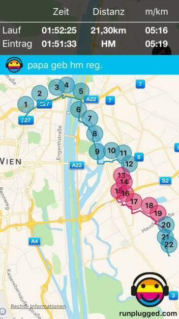 29.1. Regenerations-HM zur Seestadt mit http://www.runplugged.com/app (29.01.2016)