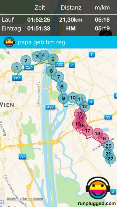 29.1. Regenerations-HM zur Seestadt mit http://www.runplugged.com/app