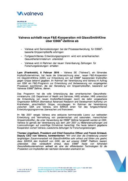 Valneva schließt neue F&E-Kooperation ab, Seite 1/3, komplettes Dokument unter http://boerse-social.com/static/uploads/file_608_valneva_schliesst_neue_fe-kooperation_ab.pdf (08.02.2016)