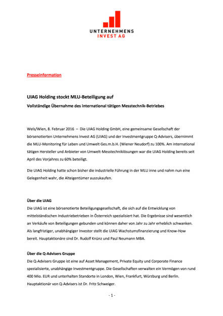 UIAG Holding stockt MLU-Beteiligung auf, Seite 1/2, komplettes Dokument unter http://boerse-social.com/static/uploads/file_610_uiag_holding_stockt_mlu-beteiligung_auf.pdf (08.02.2016)