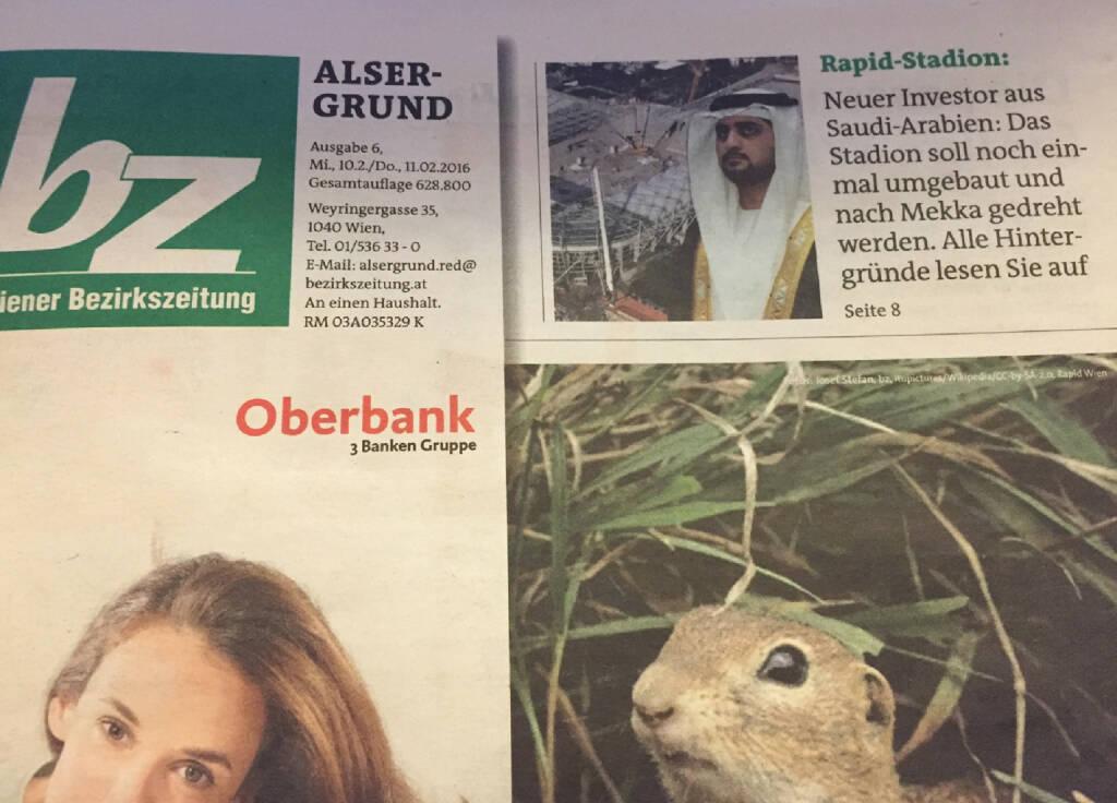 New Media Normal: BZ mit Mut zur Tagespresse auf dem Cover  (10.02.2016)